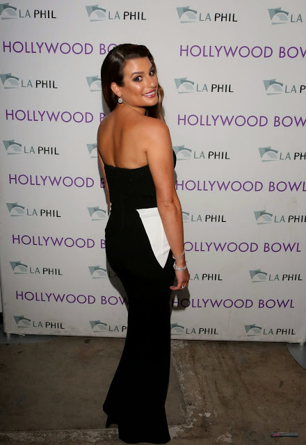 Lea Michele has got sexy shapely ass 2014 Hollywood Bowl Opening Night and Hall of Fame Inductions