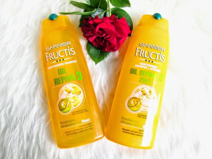 Garnier Fructis Oil Repair 3 - Kräftigendes Shampoo  &  Kräftigendes Shampoo + Spülung  2in1