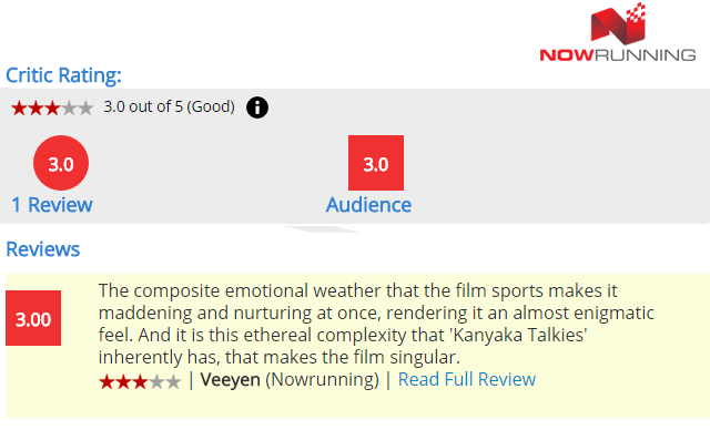 Read Kanyaka Talkies Full Movie Review on Now Running