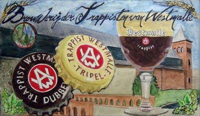 westmalle beer painting art