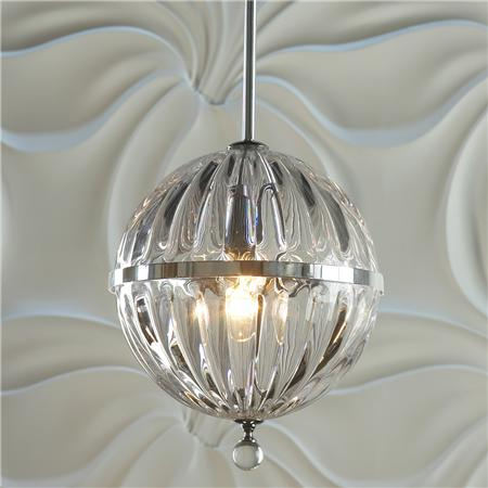 SHADES OF LIGHT FLUTED GLASS GLOBE PENDANT