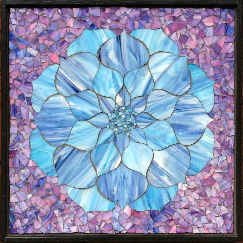 Blue Lotus Flower on Purple