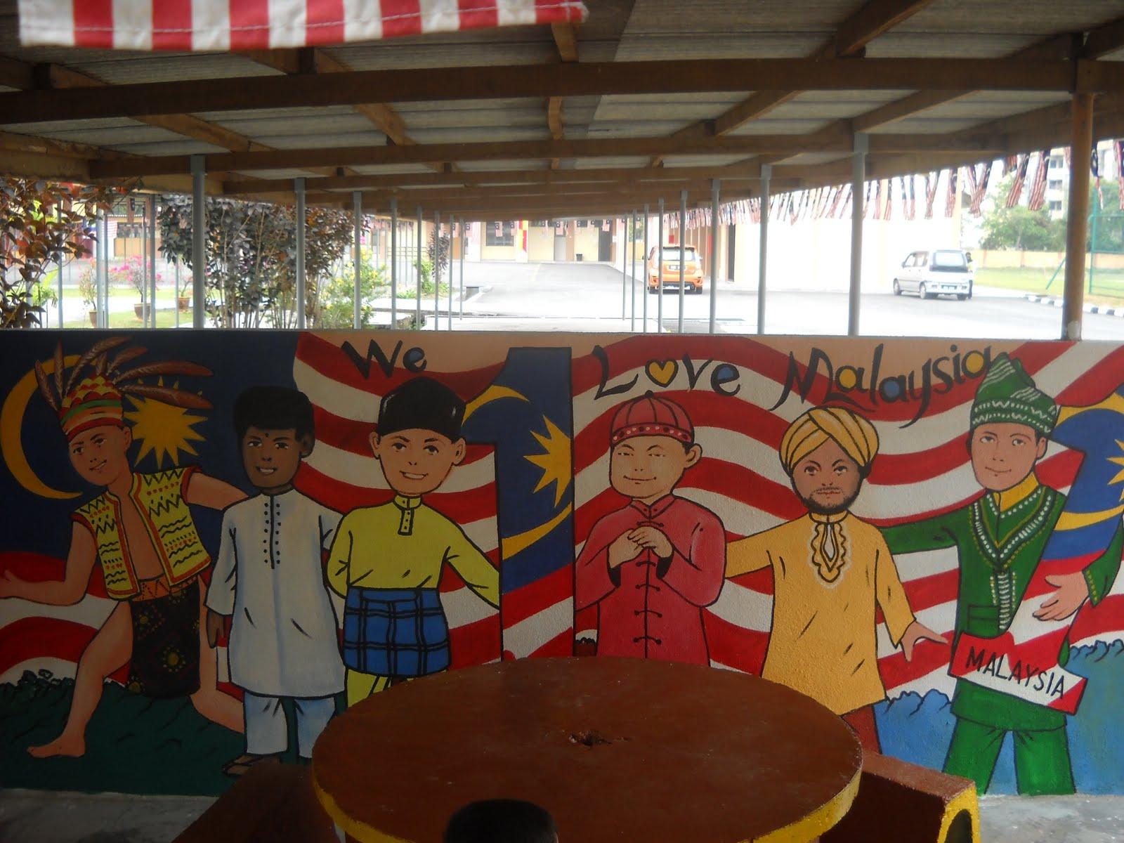 Pelukis mural shah alam anak anak malaysia for Mural 1 malaysia
