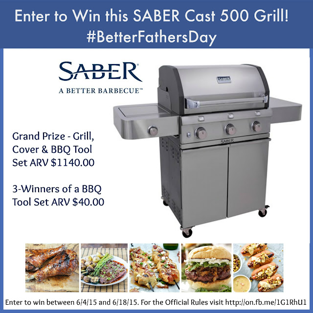 Win a Saber Cast 300 Grill Package ARV $1140.00