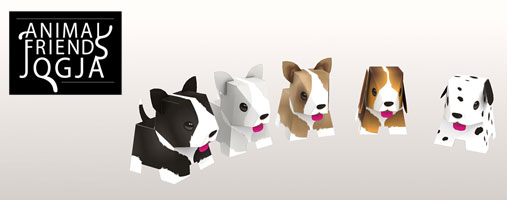 Papercraft Templates Puppies