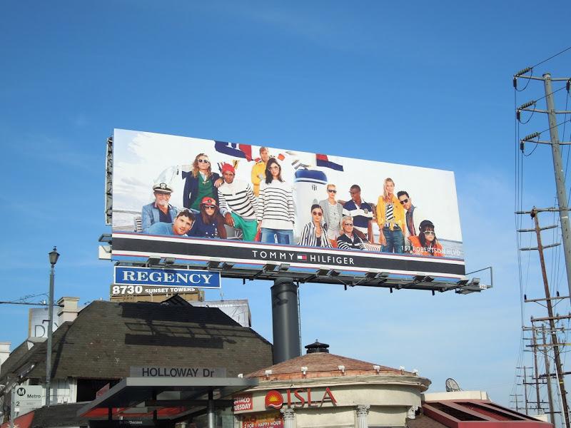 Tommy Hilfiger nautical billboard