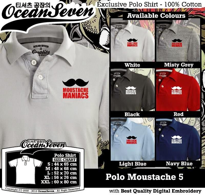 Kaos Polo Moustache 5