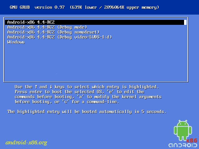 Langkah Mudah Install Android 4.4 KitKat x86 dengan Windows 8.1 (Rival Dual Boot)