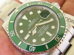 ROLEX SUBMARINER GREEN DIAL CERAMICS - ROLEX 116610V aka HULK SUBMARINER - RANDOM 2012 - MINT COND