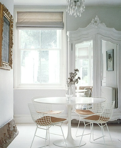 bertoia chairs_dining room