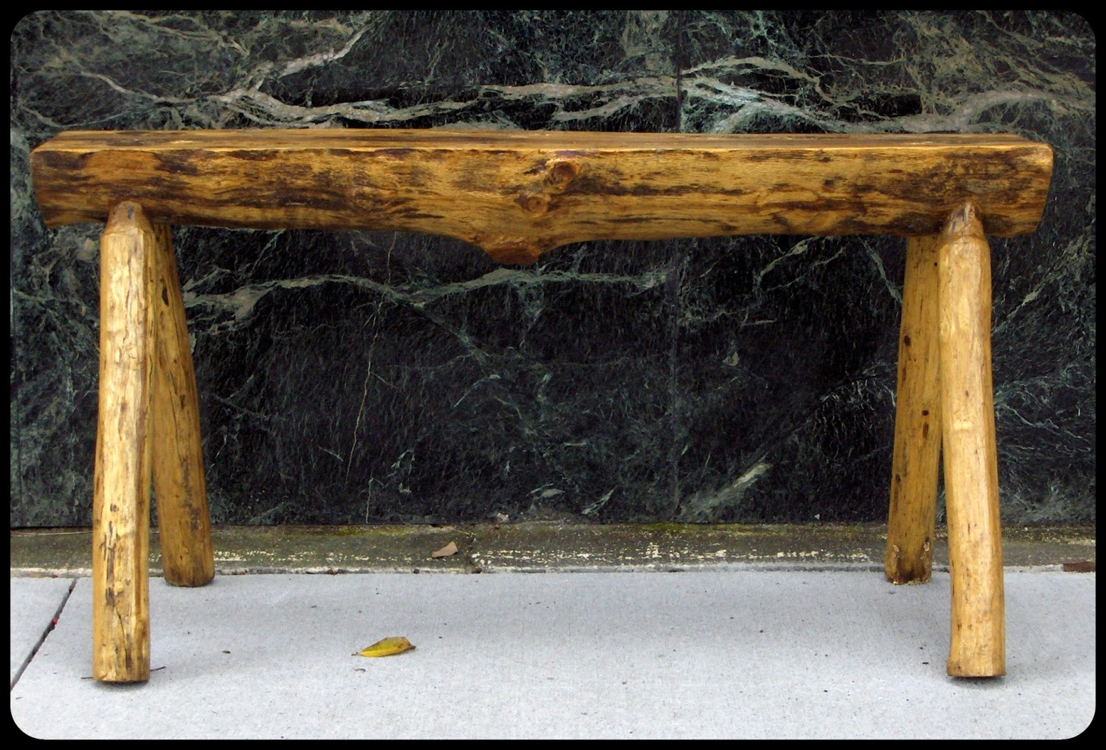 Furnitologist Rustic Solid Wood Log Bench