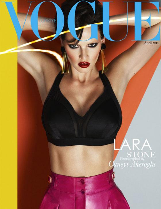 Lara Stone para Vogue Turquía abril 2012