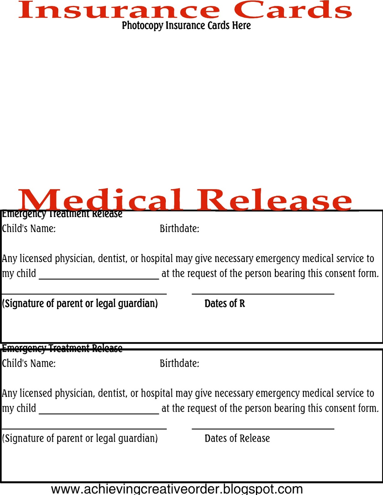 Stunning Medical Release Forms Contemporary - Office Resume Sample ...