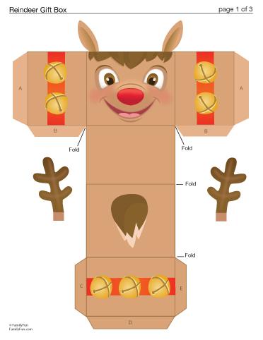 "... Results for ""Christmas Box Printable Reindeet"" – Calendar 2015"