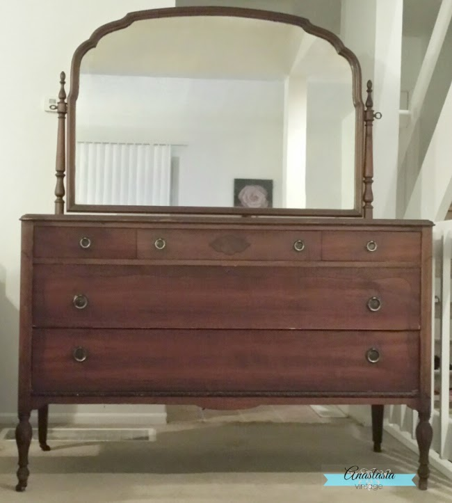 Abandoned Dresser Gets A Colorful Makeover Anastasia Vintage