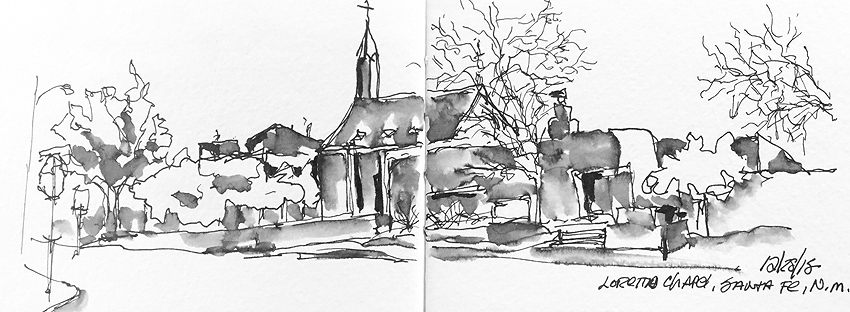 The Gothic Revival Style Is Patterned After Sainte Chapelle In Paris This Sketch A Winter View That Not Visible Summer