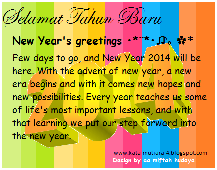 """New Year's greetings •*¨*•♫♪。 * """" let the sun bring you ..."""