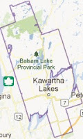 image City of Kawartha Lakes Map