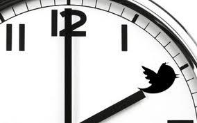 reloj de twitter