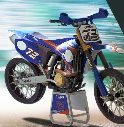 Motorcycles - Motocross YZ450FM Papercraft