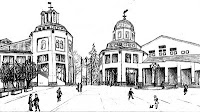 Drawing of City Hall by Francis