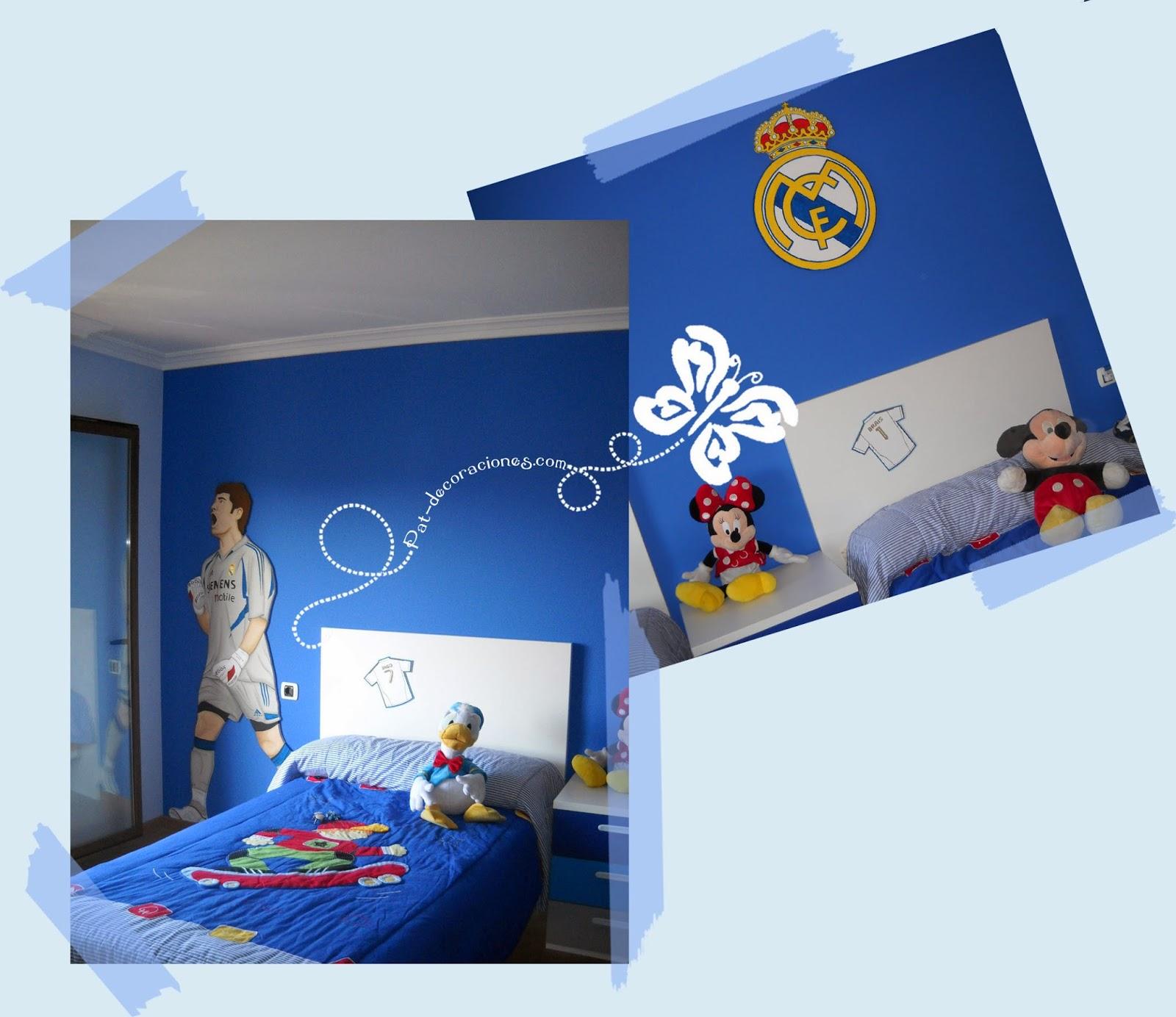 Pat decoraciones habitaci n del real madrid for Habitacion cuadruple madrid