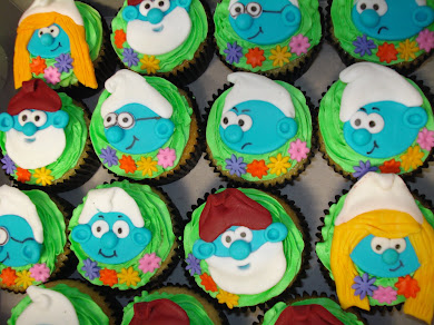 Smurf Cupcakes