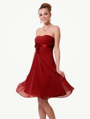 Ever Pretty Flowers Strapless Chiffon Padded Bridesmaids Dress