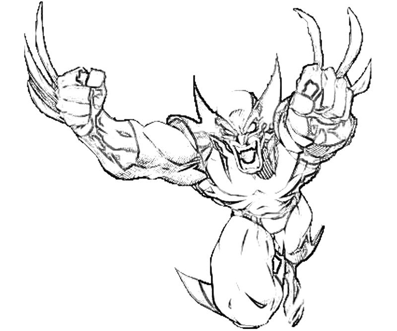 Printable Marvel vs CapWolverine Coloring Coloring Pages title=