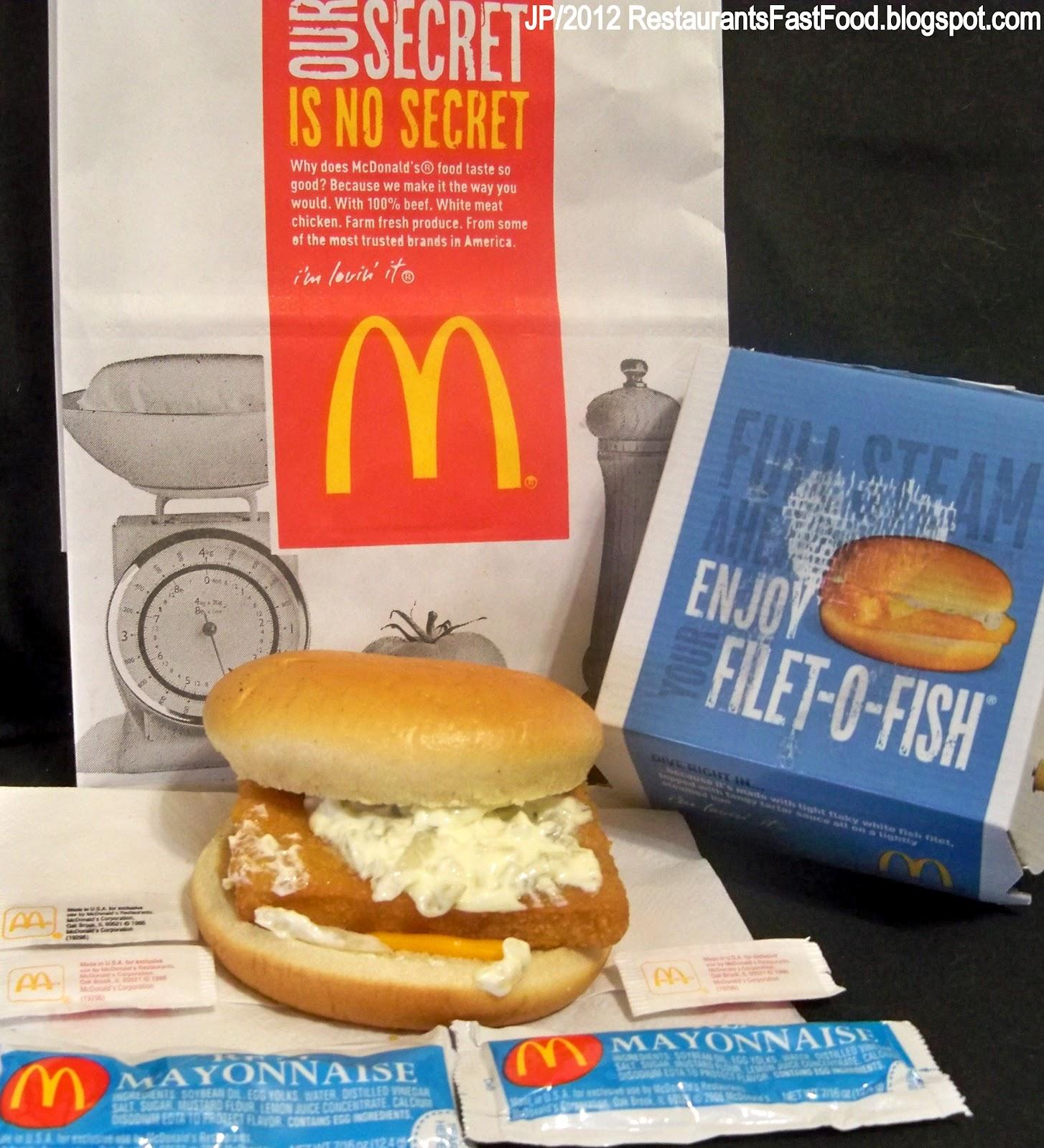 Restaurant fast food menu mcdonald 39 s dq bk hamburger pizza for Filet o fish mcdonalds