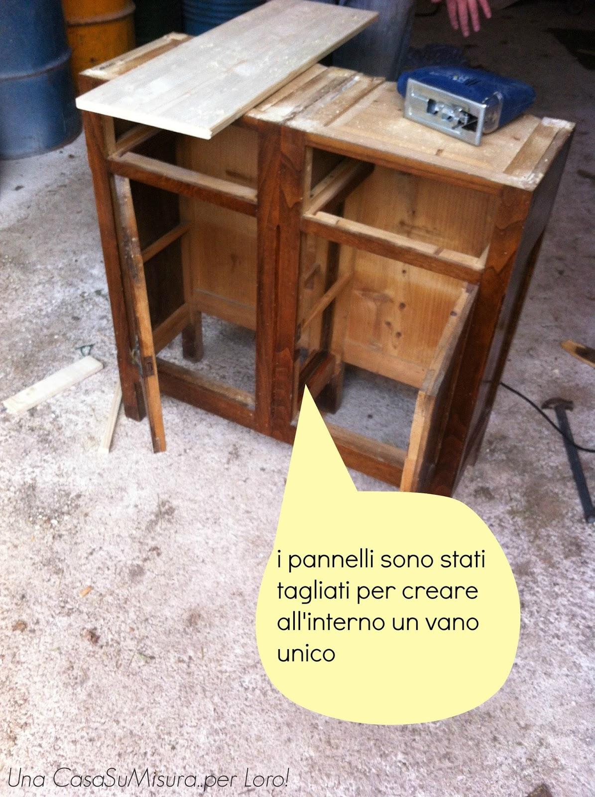 Una casasumisura per loro diy da comodini a consolle - Recupero mobili vecchi ...