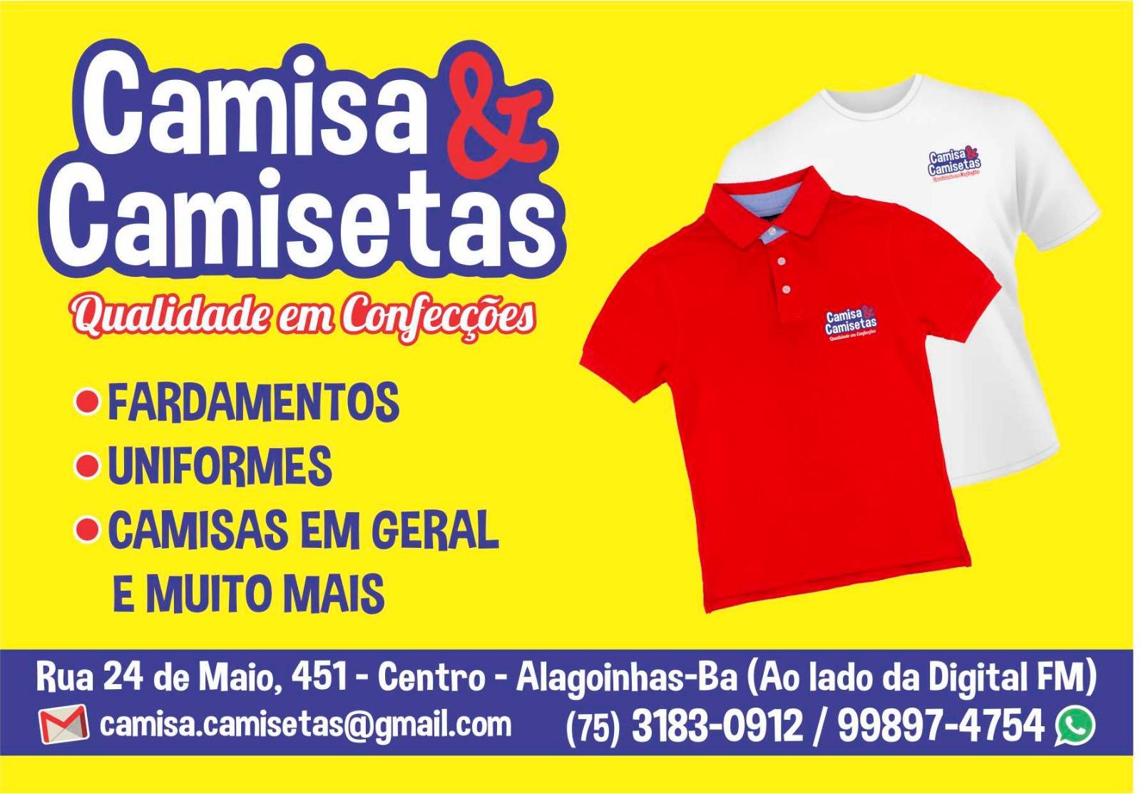 camisa e camisetas