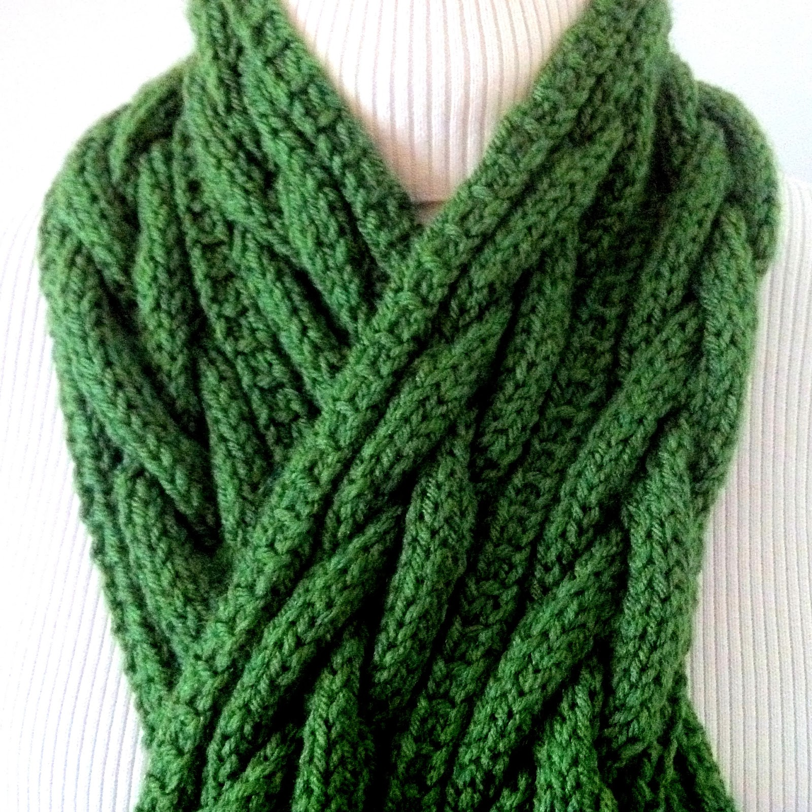 Connemara Plaited Knit Scarf