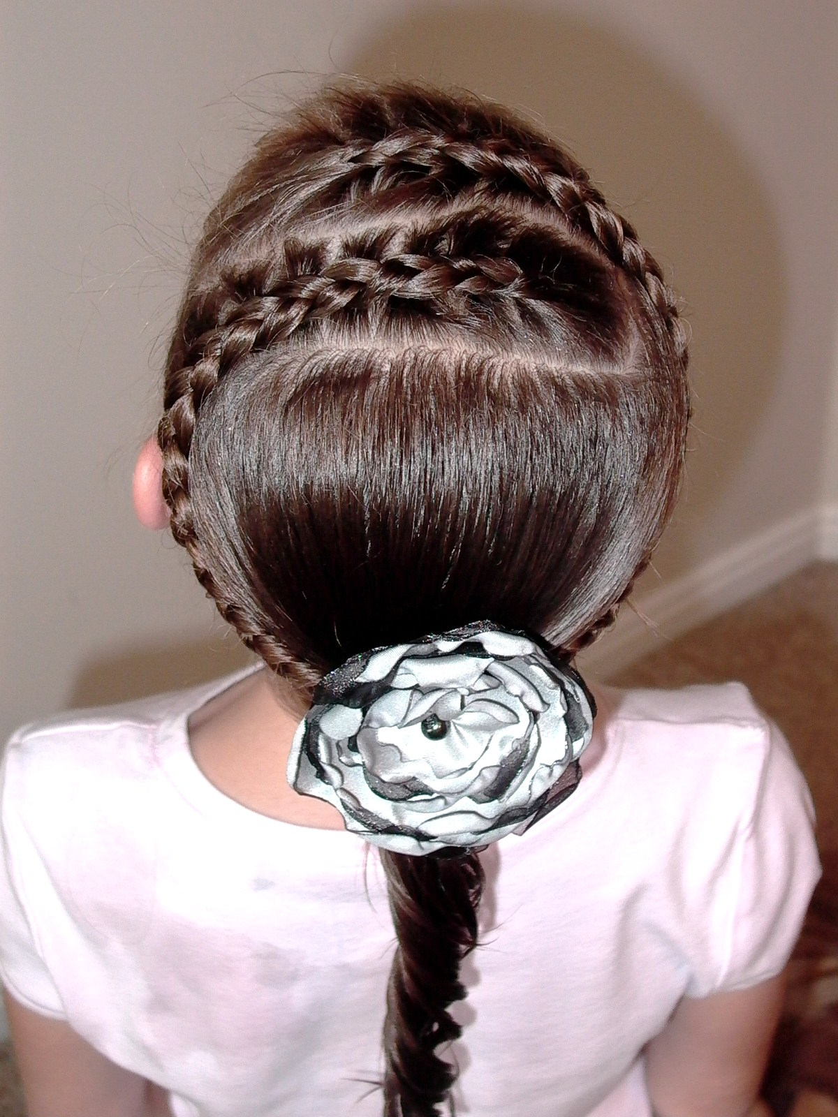 Little Girls Hairstyles Double Spiral French Braids Video Tutorial