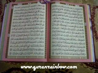 tampilan dalam al quran rainbow tajwid al-hakam