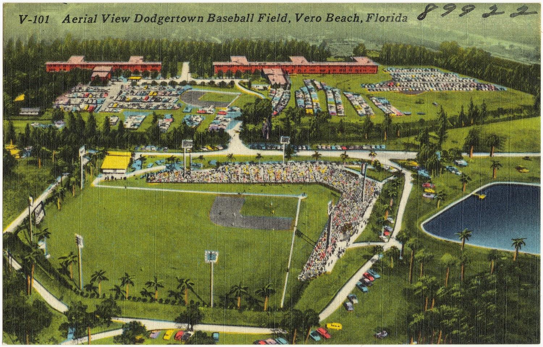 Vintage Dodgertown Postcard