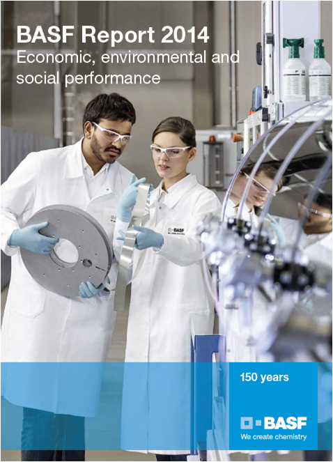 BASF, annual report, 2014, front page