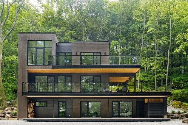 Casa moderna en los bosques de quebec modern style house for Modern house quebec