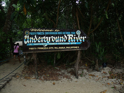 Underground River Welcome Sign