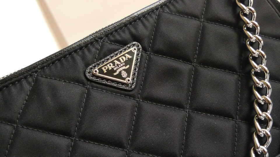 58f5345760cd I Want Bags backup  Prada BT1026 Tessuto Impuntu Quilt in Nero