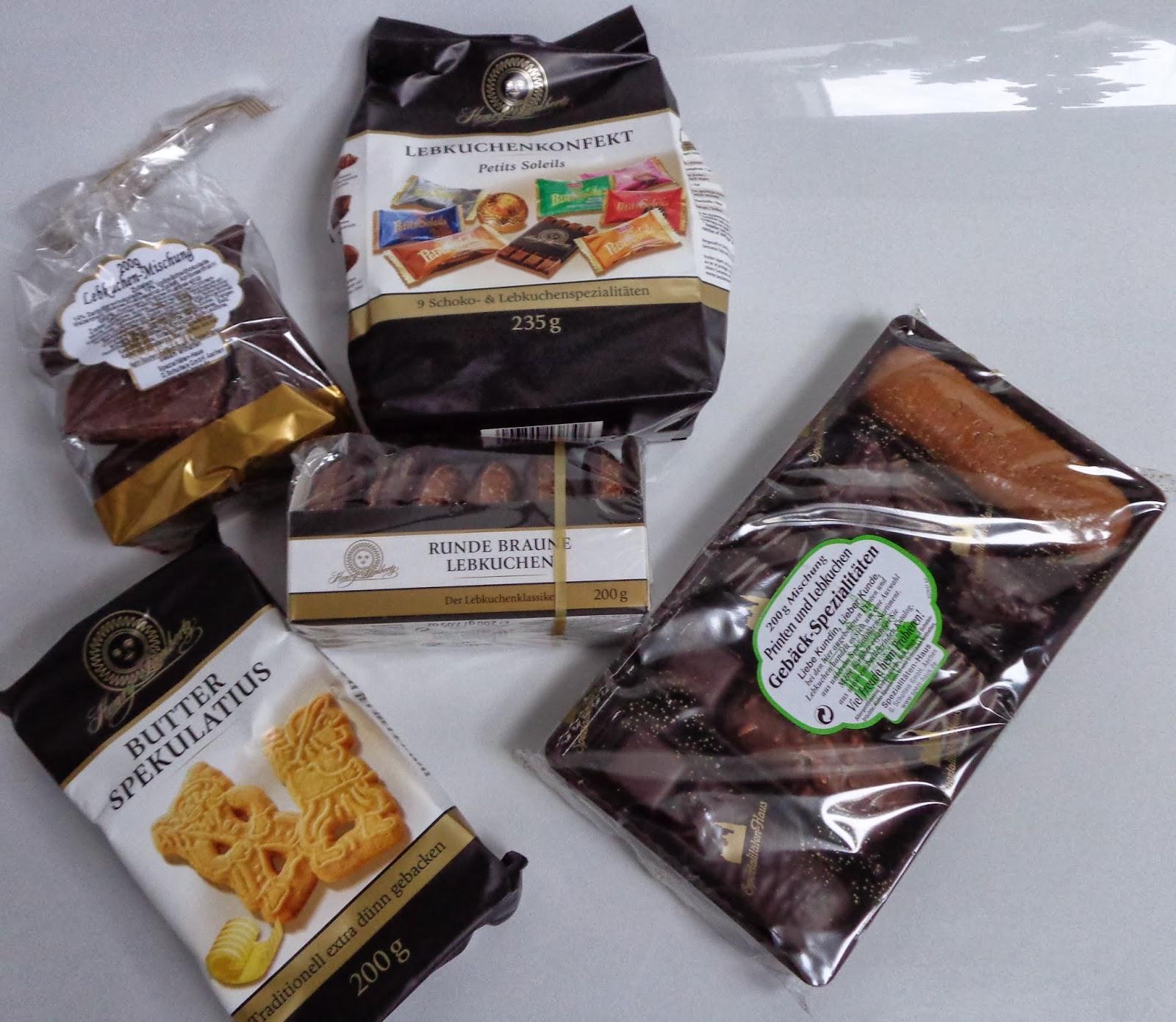 runde braune Lebkuchen; Schokolade; Lebkuchenkonfekt; Butter-Spekulatius