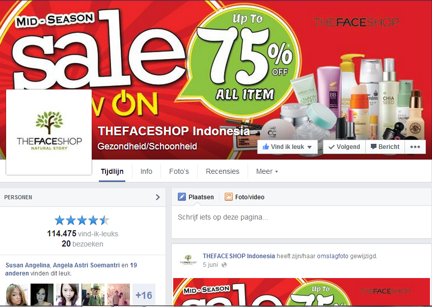Facebook The Faceshop