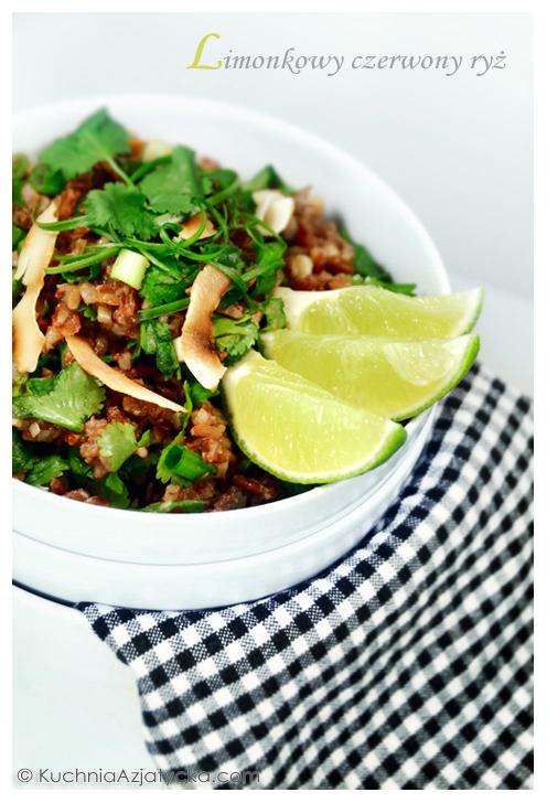 Limonkowy czerwony ryż © KuchniaAzjatycka.com
