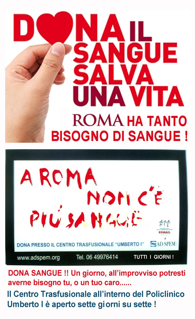 DONATE SANGUE - SALVATE UNA VITA