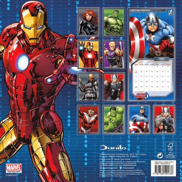 Calendario Superhéroes Marvel 2015