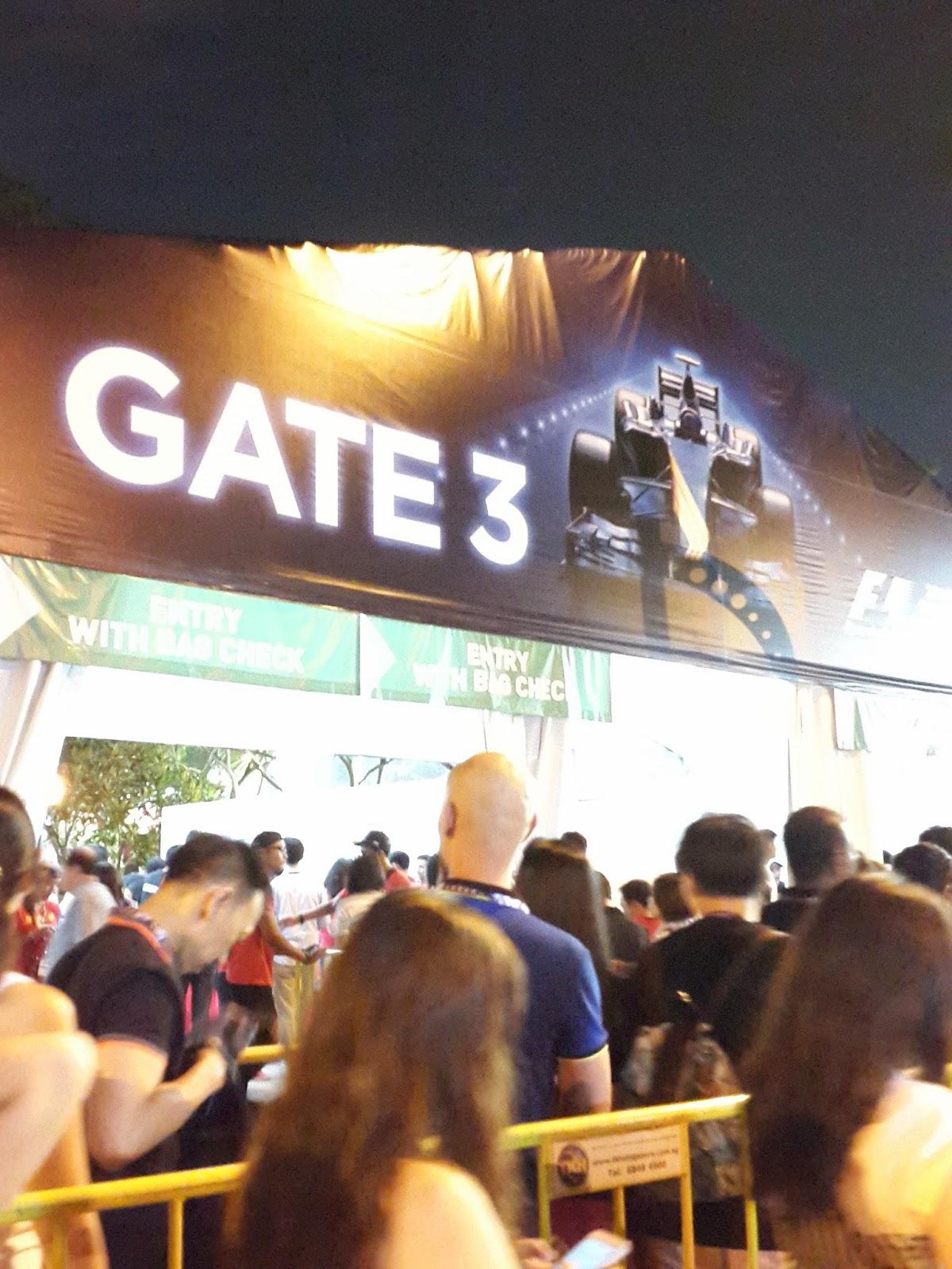 Gate 3 Singapore Formula 1 Grand Prix City Hall