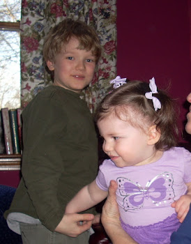 Shane and his cousin Kendra in her full purple regala!