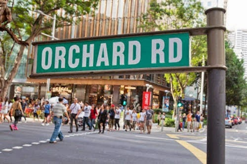nama jalan orchard di singapura
