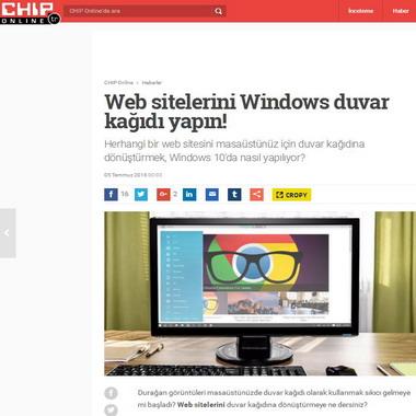 chip com tr - web sitelerini windows duvar kağıdı yapın