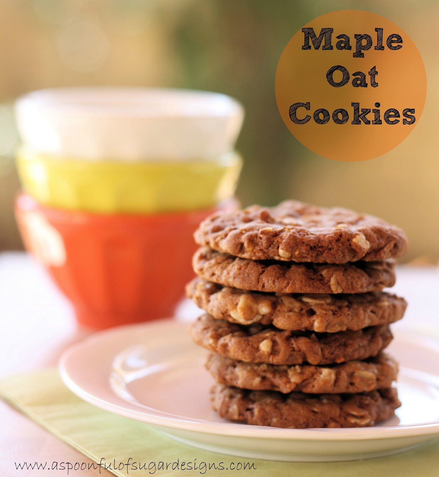 Maple Oat Cookies - A Spoonful of Sugar